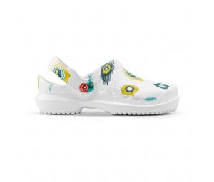 Schuzz-chaussure-sabot infirmière-protec-femme-Plume de paon
