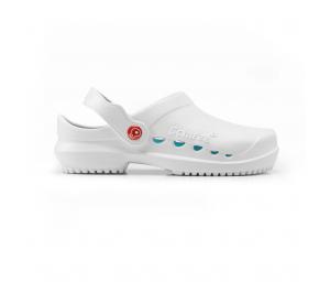 Schuzz-chaussure-sabot infirmier-protec-homme-blanc et bleu petrole