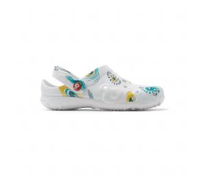 Schuzz-chaussure-sabot-globule-imprimé-infirmiere-sabot plastique-femme-plume de paon