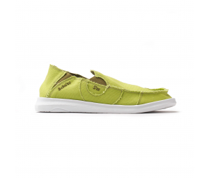 Schuzz-chaussure-mocassin-Cesar-loisirs-chaussure toile-homme-vert anis