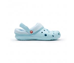 Schuzz-chaussure-sabot-globule-polaire-sabot plastique-femme-bleu clair